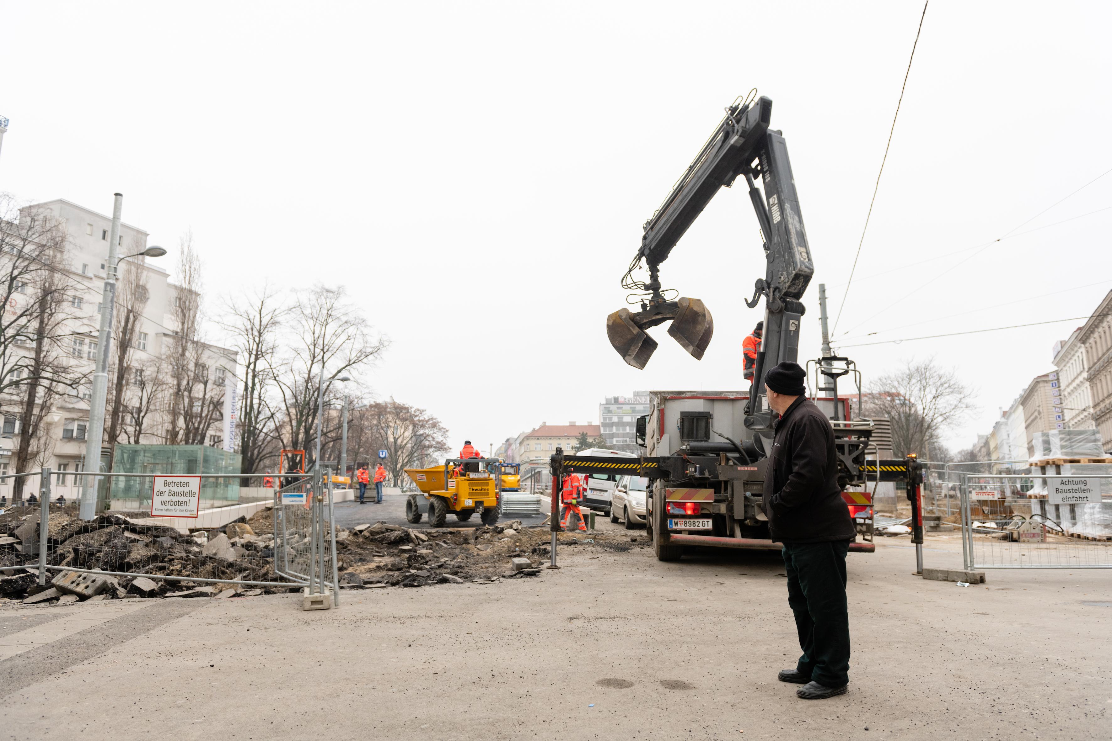 Reumannplatz Baustelle