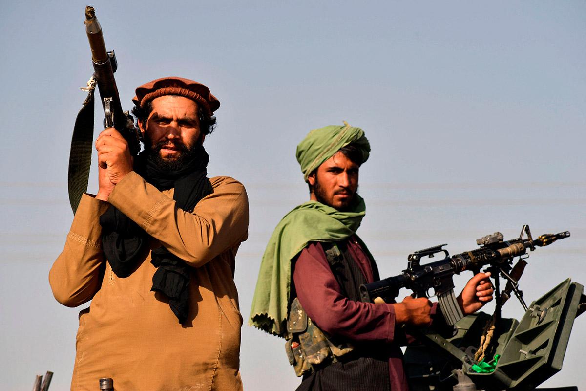 Taliban-Kämpfer in Kandahar nach dem Abzug der US- Truppen