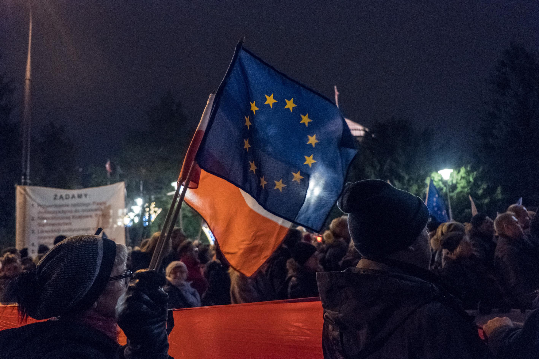 Demo Warschau Polen