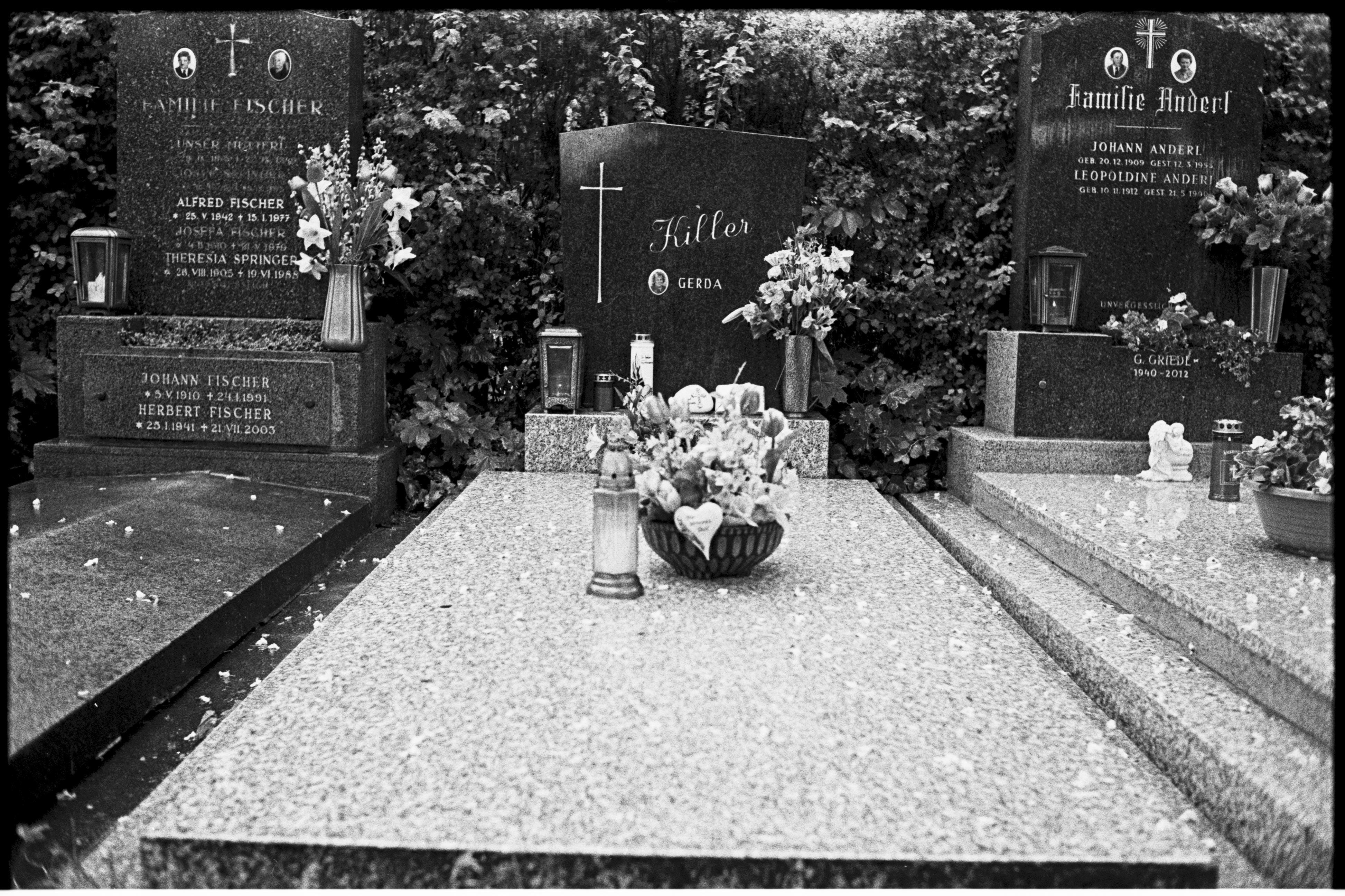 Friedhof, Tod, schwarzweiß, RIP