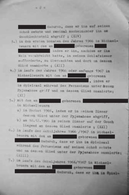 Ein Auszug aus dem Gerichtsprotokoll 1970/Bereitgestellt