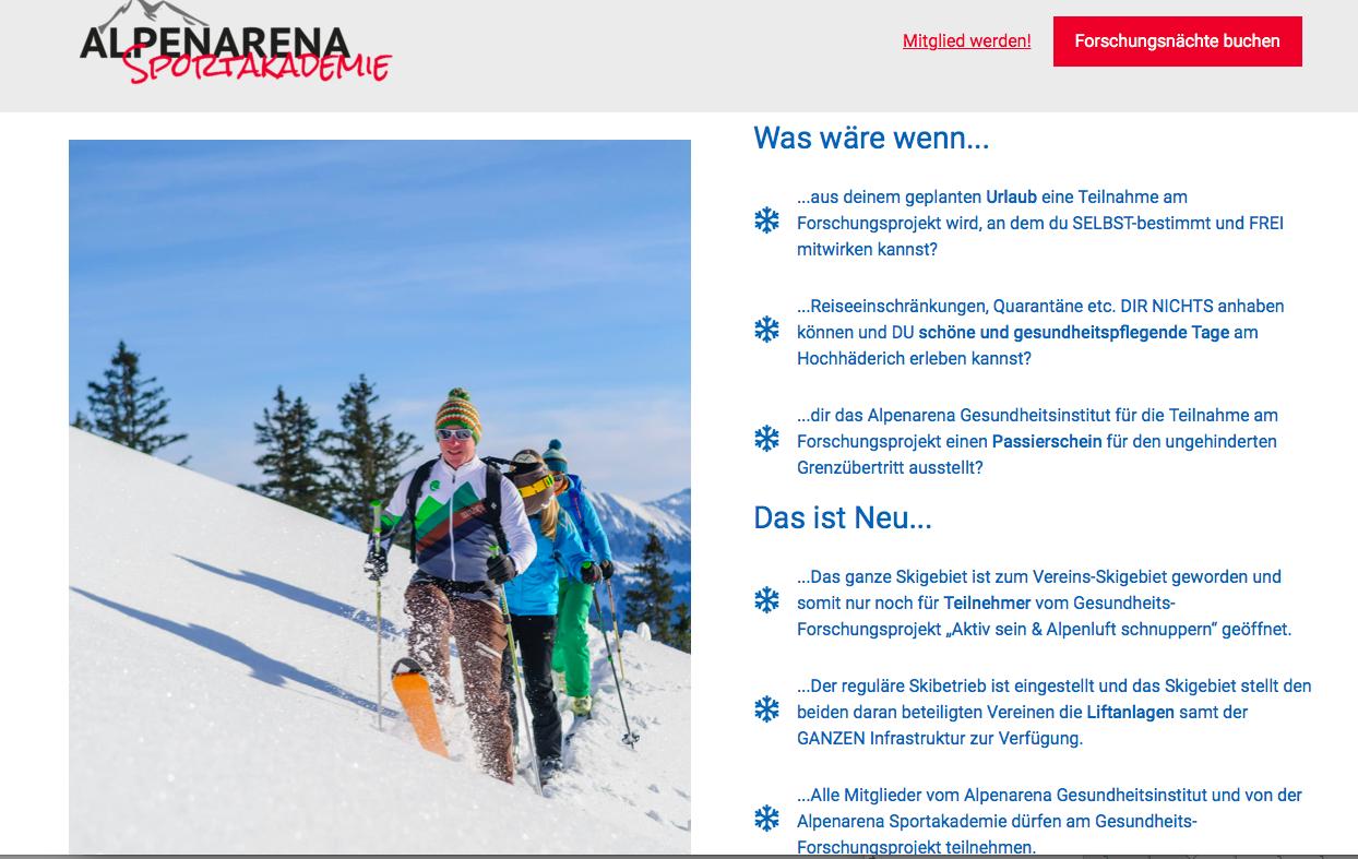 Screenshot: Alpenarena Sportakademie