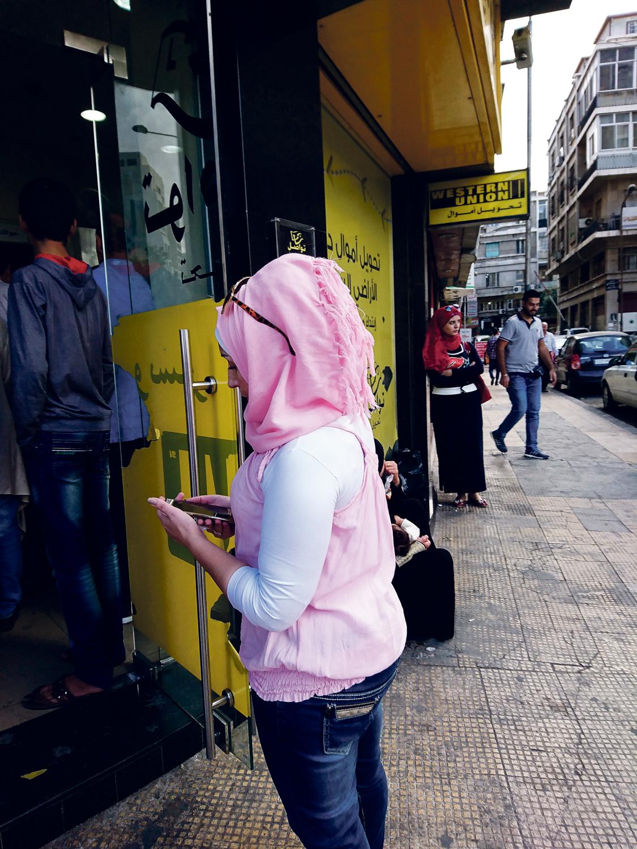 Es git 57 Filialien von WU in Syrien. Das hier ist eine in Damaskus. Foto: Anas Faraj