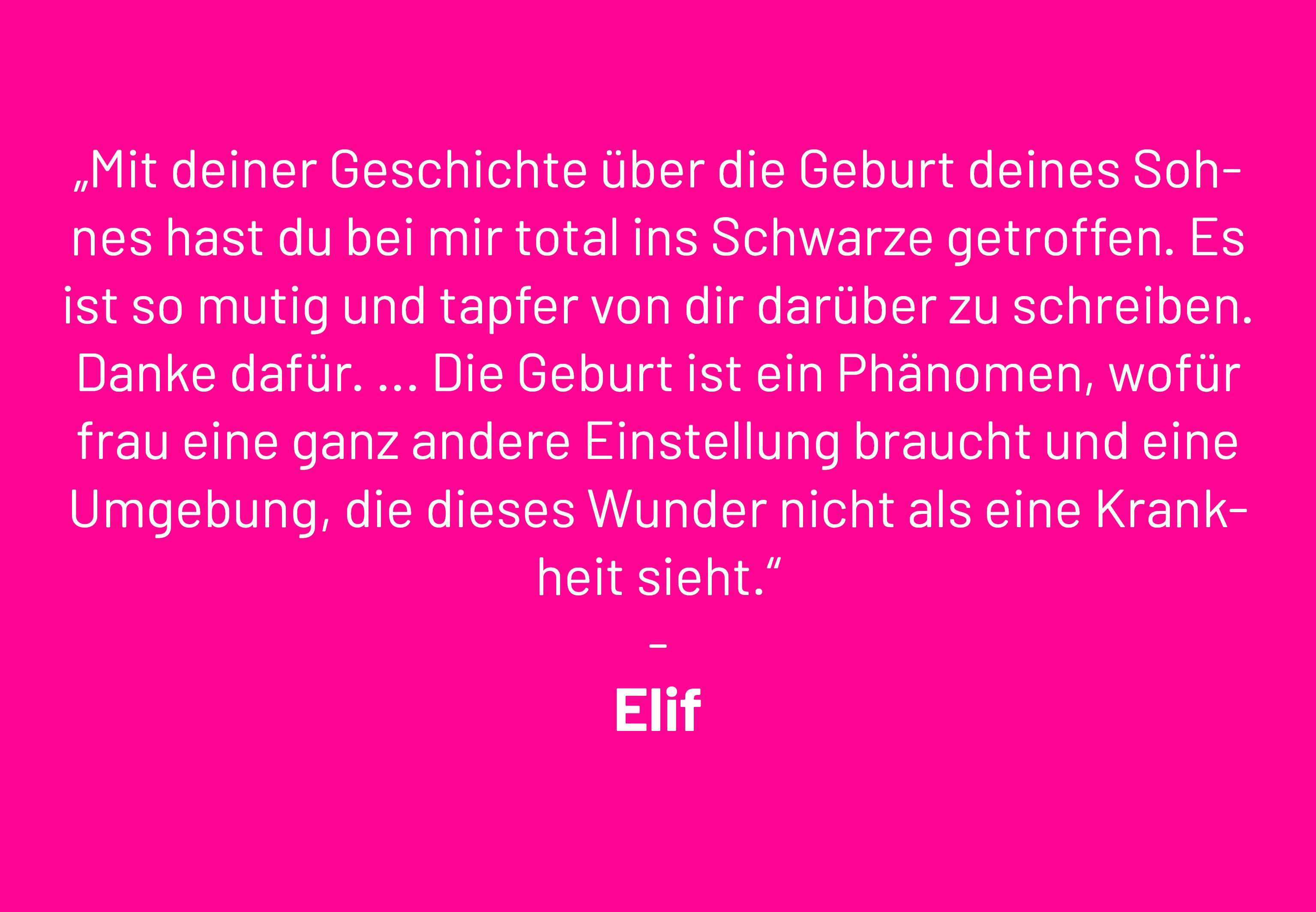 Elifs Leserbrief