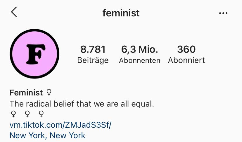 Feminist auf IG
