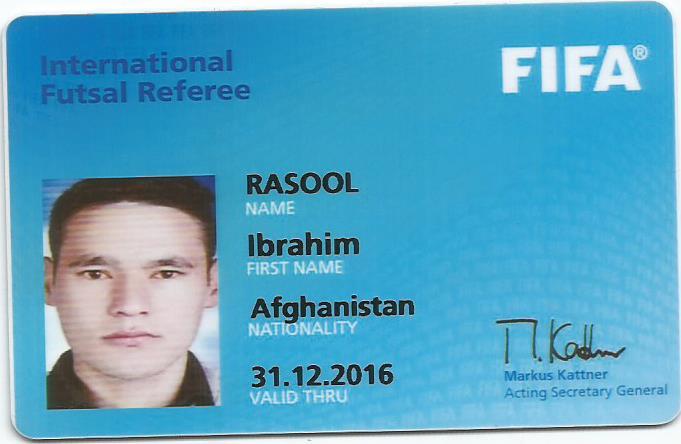 Ibrahim Rasool's FIFA Ausweis