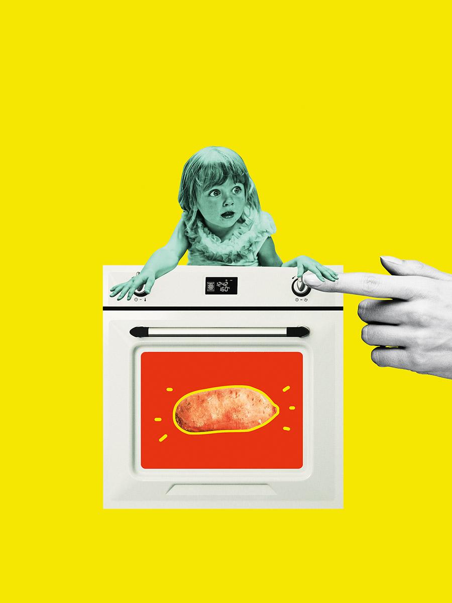 Eine Süßkartoffel in der Mikrowelle- grüne Sünde?
