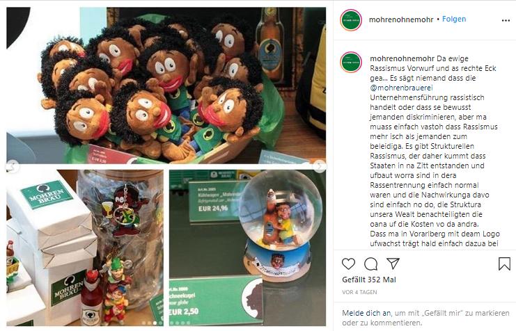 """Foto von der Instagram-Seite """"Mohren ohne Mohr"""" Foto: instagram.com/mohrenohnemohr/"""