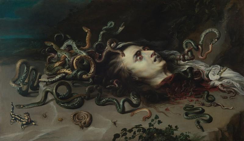 Haupt der Medusa, um 1617/1618, Peter Paul Rubens, Kunsthistorisches Museum Wien
