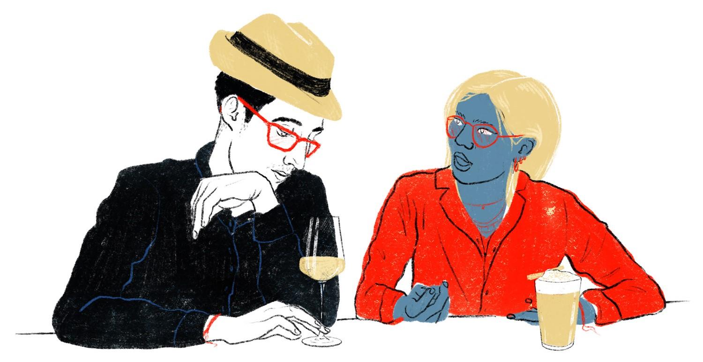 paar, Politik, Wahl, Illustration