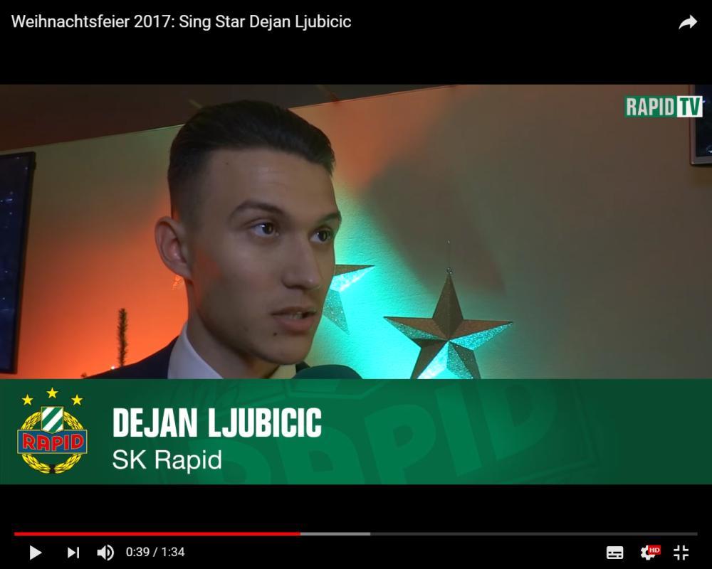 Wer hat Rapid-Star Ljubicic ermutigt eine Moschee mit Bierflasche zu bewerfen?