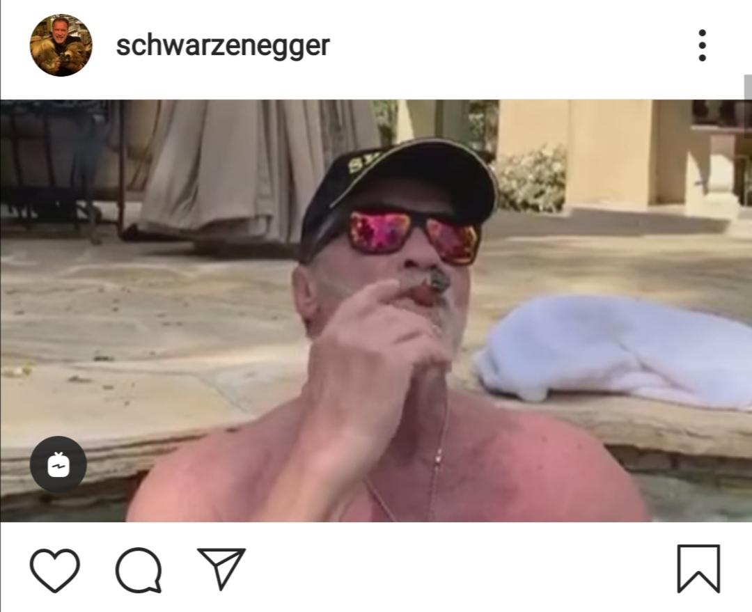 Mit Zigarre im Whirlpool: #staythefuckhome