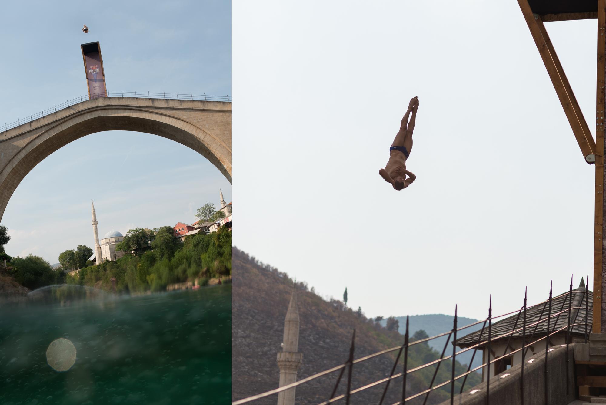 Mostar, RedBullCliffDiving, Red Bull, Bosnien, Herzegowina