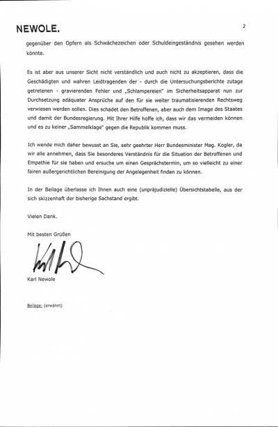 Brief an Werner Kogler
