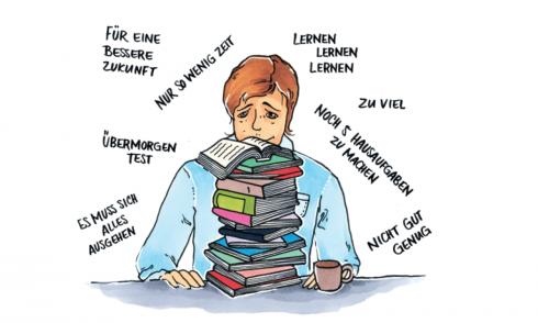Leistungsdruck, Stress, Schule, Schüler, Druck, Test, Hausaufgaben
