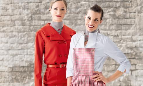 Stewardess, neuer Look, Dirndl