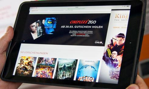 Cineplexx2go, VoD, Tablet