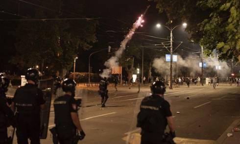 Belgrad, Proteste, polizei