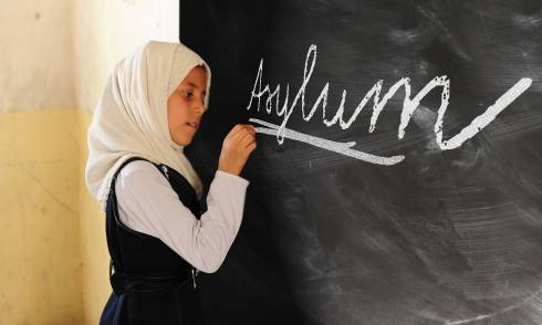 Schulmädchen Asyl