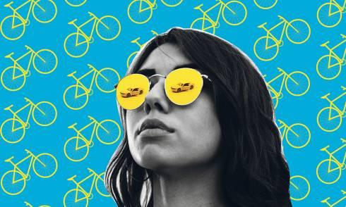 Nachhaltigkeit, Collage, Fahrrad