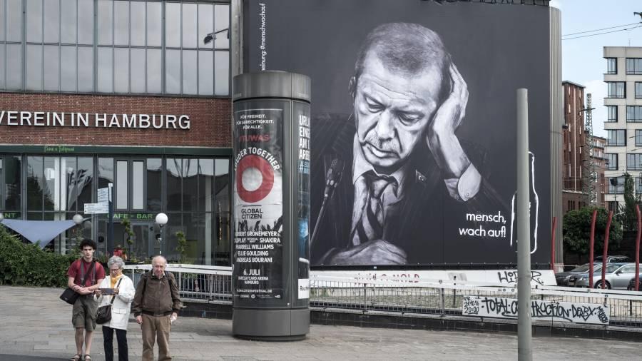 Erdogan Werbung G20 Protest Hamburg
