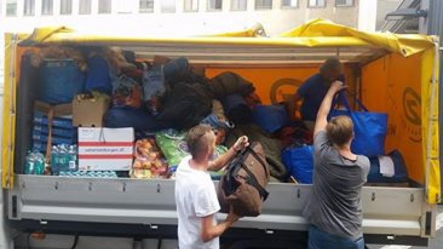 Flüchtlinge Wien Westbahnhof Hilfe