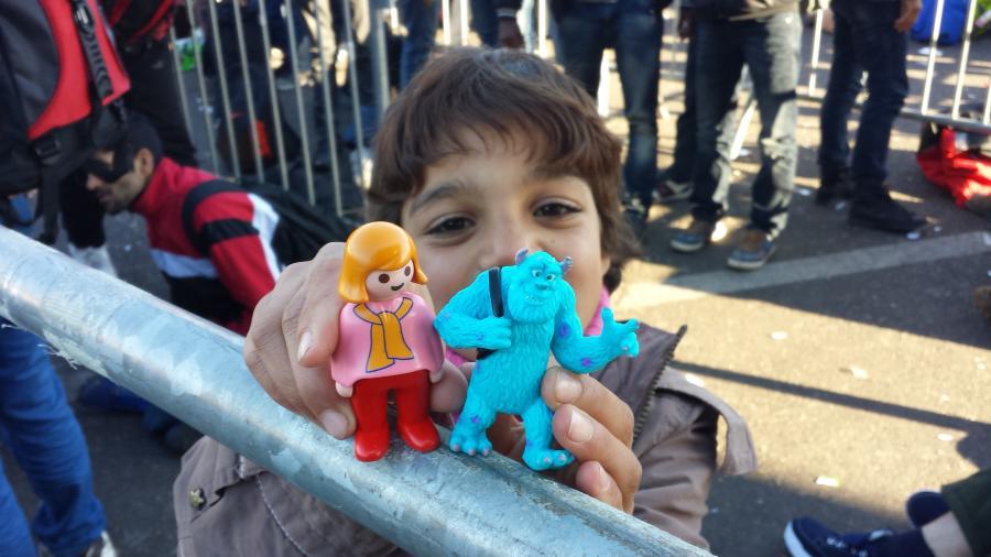 Spielfeld Flüchtlinge
