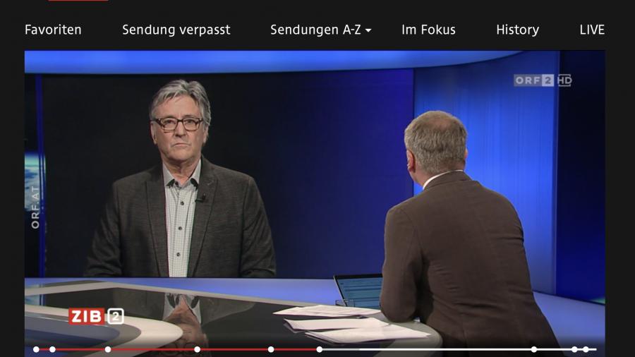 "Screenshot; ORF TV-Thek: Wolfgang Matt zum Vorwurf der ""Bürgermeister-Impfung"""