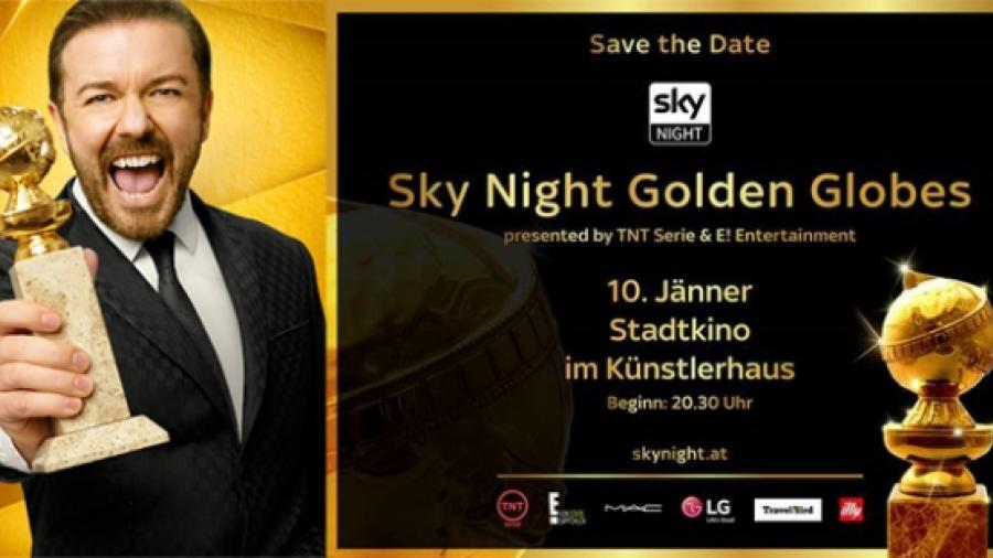 golden globe, sky night
