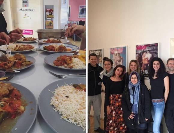 """Biber zusammen mit dem Team von """"Speisen ohne Grenzen"""""""