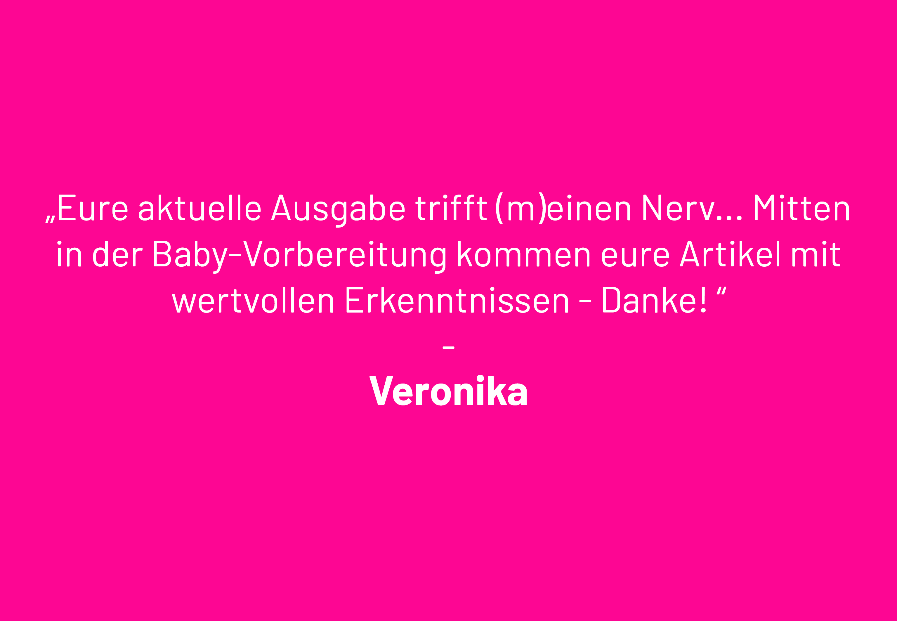 Veronika Leserbrief
