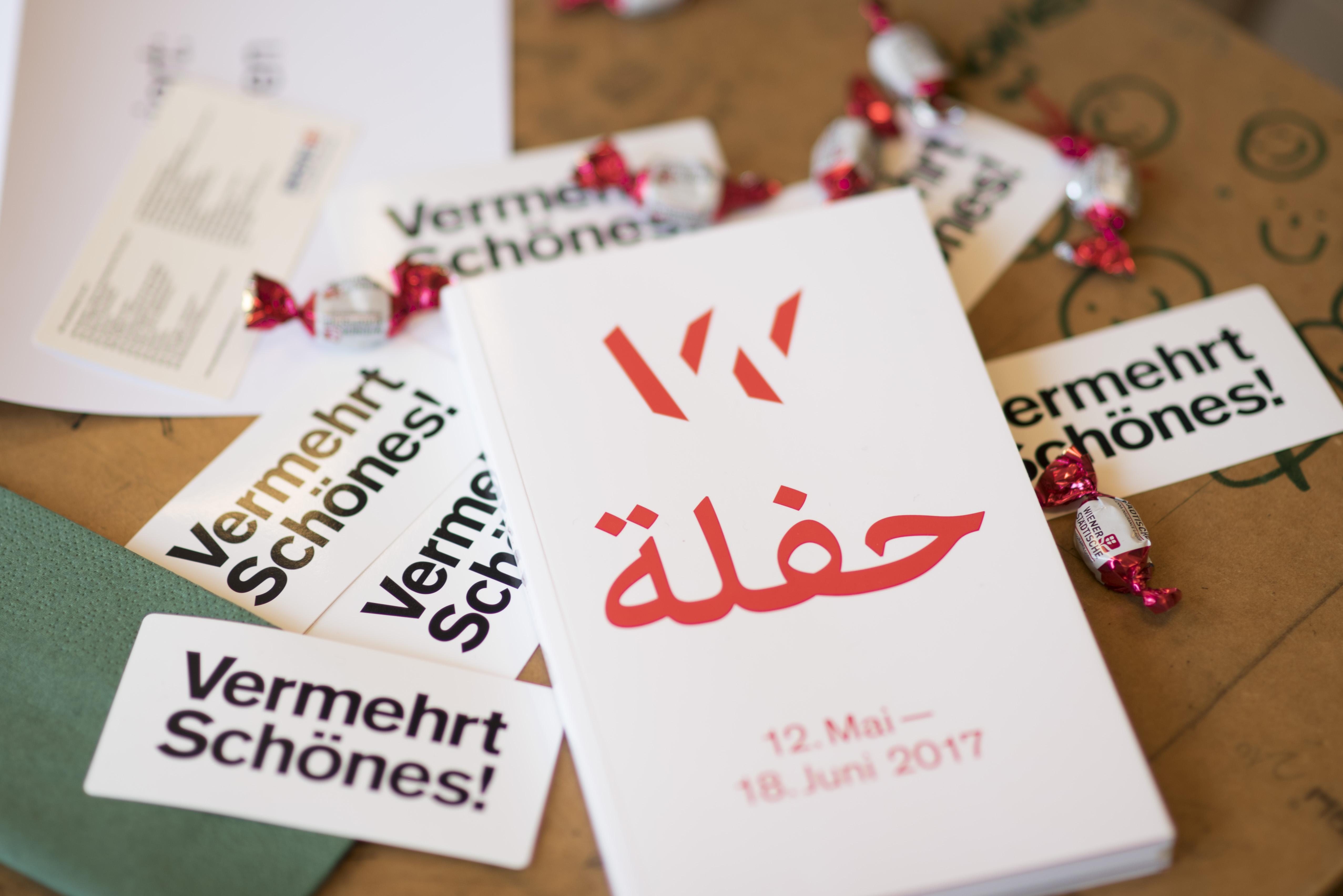 Wiener Festwochen Arabischer Broschüre